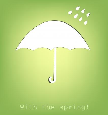 paraplu gesneden uit papier, vector illustratie