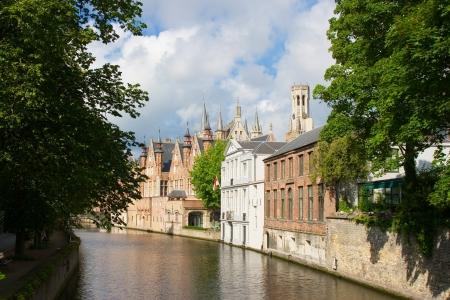 Bruges city river, Brugge, Belgium Stock Photo