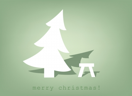 christmas tree and stool  sign , vector Vector