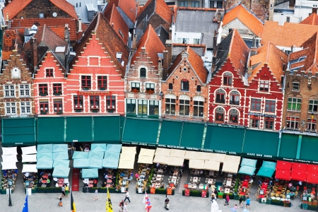 brugge: Roofs of Flemish Houses in Brugge, Belgium Editorial