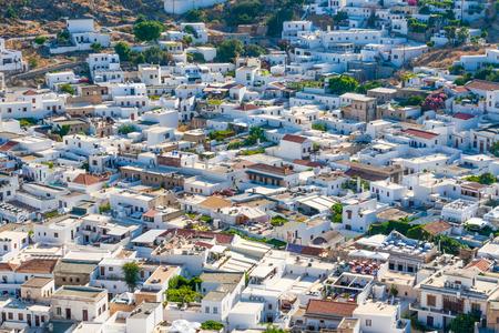 lindos: Greece trip July, 2015, Rhodos island, Lindos, overview of Lindos