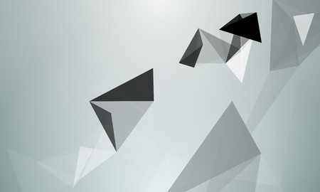 grey backgrounds: triangle abstraction effect Stock Photo