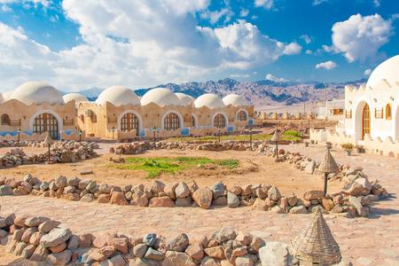 dahab: Dahab, Sinai Peninsula, Egypt, White houses at coast of sea