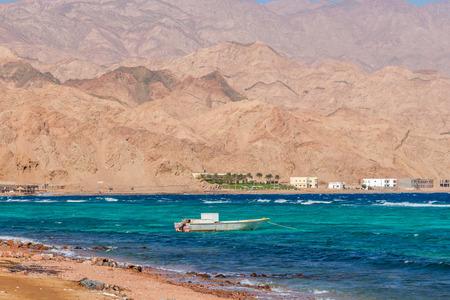 dahab: Dahab, Sinai Peninsula, Egypt, Mountains and Coast of red sea Stock Photo