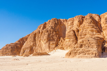 sinai desert: Dahab, Sinai Peninsula, Egypt, Blue Sky and Mountains in the Sinai desert