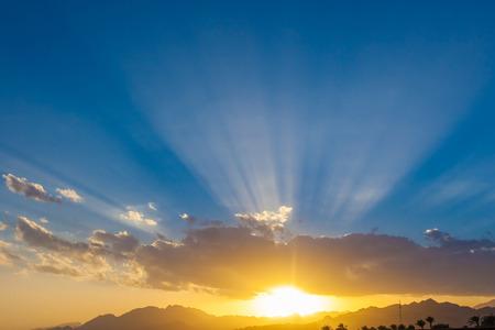 sinai peninsula: Dahab, Sinai Peninsula, Egypt, Sunset in Sinai Stock Photo