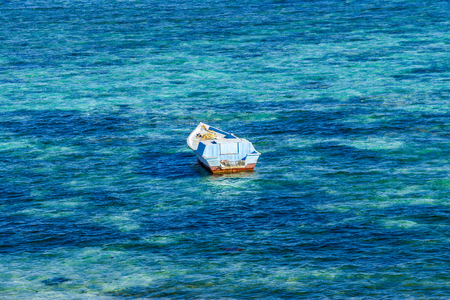 dahab: Dahab, Sinai Peninsula, Egypt, Fisherman boat in the Red Sea