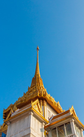 wat traimit: Temple of the Golden Buddha (Wat Traimit) in Bangkok, Thailand Stock Photo