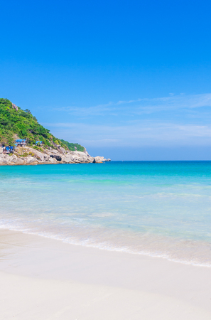 beautiful beach with blue water on the island Koh Phangan, Thailand
