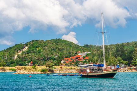 fishing boat near coast of the island Koh Phangan, Thailand
