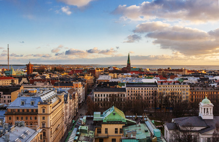 Aerial view of Helsinki, capital of Finland Stock Photo