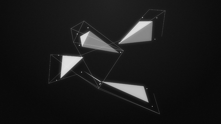 abstraction dynamic composition with lines and dotes