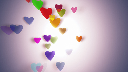 intro: Hearts with depth of field, Valentines Day background Stock Photo