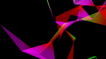 zillion: abstraction geometrical composition with triangles Stock Photo