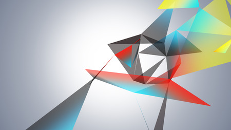 slow motion: abstraction geometrical composition with triangles Stock Photo