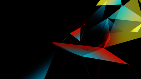 abstraction geometrical composition with triangles Stock Photo