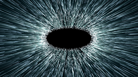 wormhole: wormhole or black hole, abstract scene of overcoming the temporary space in cosmos Stock Photo
