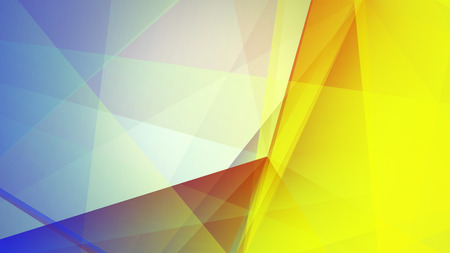 zillion: Abstract geometric composition with the colourful triangles