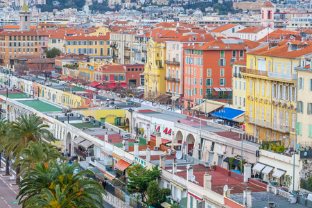 cote d'azur: View of old center of Nice. Cote dAzur, French Riviera.