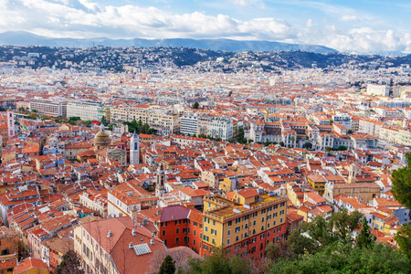 old center: View of old center of Nice. Cote dAzur, French Riviera.
