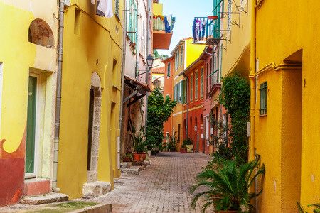 cote d'azur: View of streets. Villefranche-sur-Mer, Nice, Cote dAzur, French Riviera.