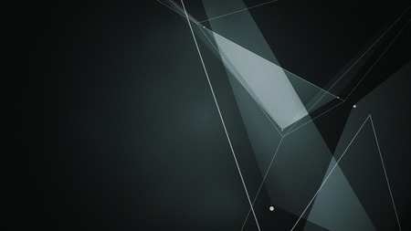 abstraction geometrical composition with triangles, dots and lines