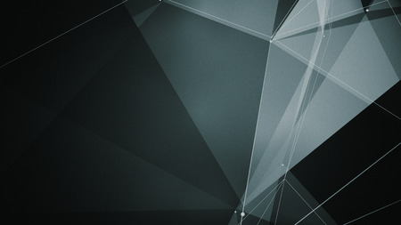 zillion: abstraction geometrical composition with triangles, dots and lines