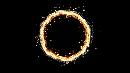 particle: glowing particle ring, abstract background