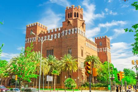 tres: Barcelona, Spain - May 3, 2015: Barcelona Attractions, Castell dels Tres Dragons, Catalonia, Spain