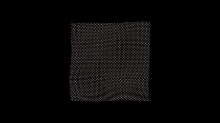 metamorphose: metamorphose of amorphous plane surface from dots, abstract animation of future shape