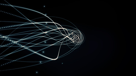 loopable: glowing waved lines, abstract background