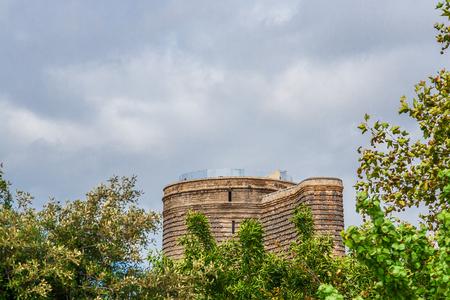 baku: Old town. Panoramic view of Baku, capital of Azerbaijan.