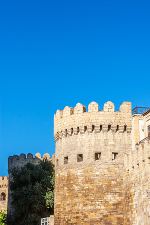 Old town. Panoramic view of Baku, capital of Azerbaijan.