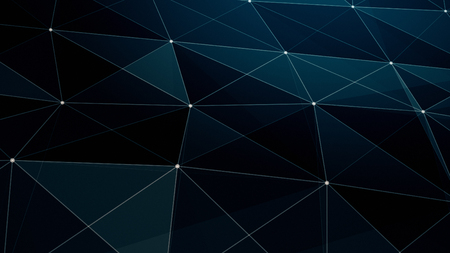 abstraction geometrical composition with connected dots lines and triangles, abstract background for design