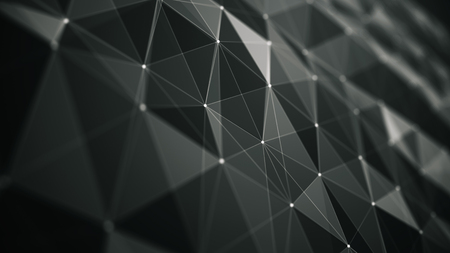 wormhole: abstraction geometrical composition with dots lines and triangles, abstract futuristic background for design Stock Photo