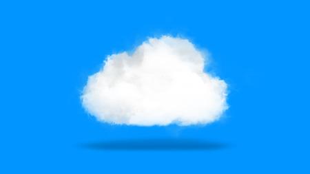 Le cloud computing ou la technologie cloud, fond de concept à partir de nuages ??célestes, symbole de l'industrie informatique