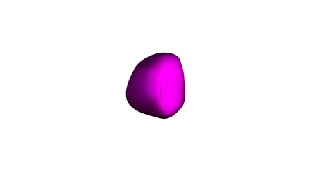 meta: wavy and colorful surface, metamorphose of amorphous sphere, abstract shape