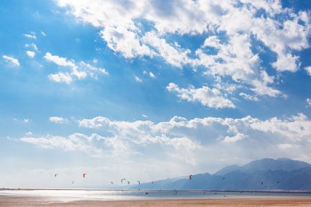 monte sinai: Dahab, Sinai Peninsula, Egypt, Mountains and Coast of red sea Foto de archivo