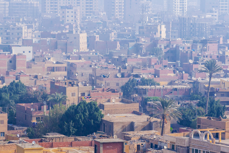 Streets and panorama of Cairo and the surrounding area after the revolution of the Muslim Brotherhood, Egypt Stock Photo