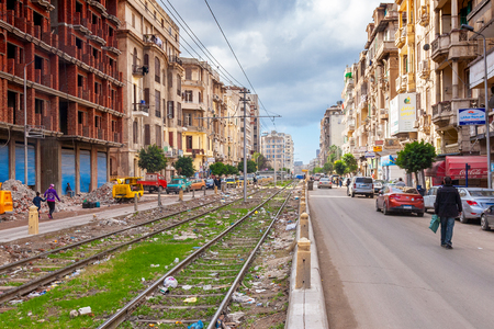 cityscape of Alexandria in Egypt, north africa Editorial