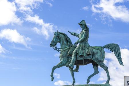 Stockholm, Sweden. Statue of Charles XIV John, king of Sweden and Norway at Slussen