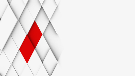 3d illustration, abstract geometric volumetric background for design and web