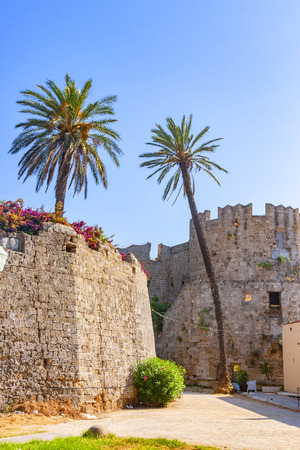 Fortifications of the medieval town of Rhodes, Greece