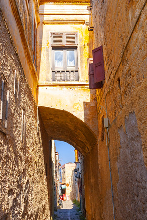 Streets of medieval town of Rhodes, Rhodes island, Greece