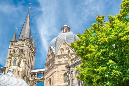 Aachener Dom Frühherbst, Aachen, Deutschland