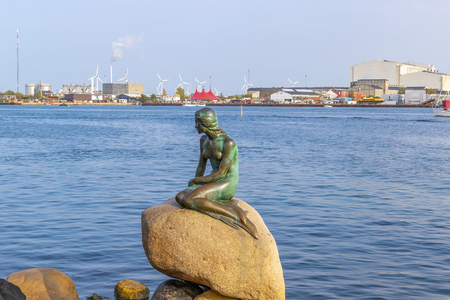 The Little Mermaid statue in copenhagen, especially popular tourist destination