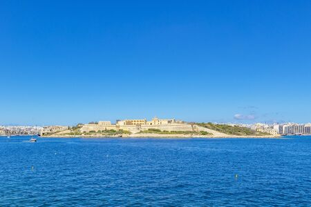 View of the island Manoel from the forts Valletta. Malta. Stok Fotoğraf