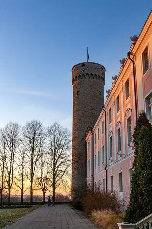 Old town of Tallinn in winter time, Tallinn, Estonia 写真素材 - 135547389
