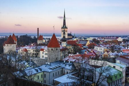Old town of Tallinn in winter time, Tallinn, Estonia