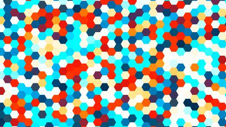 Illustration of abstract colorful hexagon geometric surface, minimal hexagon grid pattern